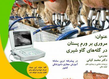 دوره آموزشی مجازی مروری بر ورم پستان در گله های گاو شیری